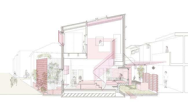 断面図_ A house in the house tree | Eureka